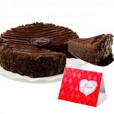 """Triple Chocolate Brownie revestidos pastel- """"San Valentín"""""""