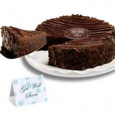 """Triple chocolate revestidos Brownie """"consigue pronto"""" Cake"""