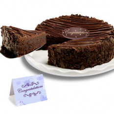 "Triple chocolate revestidos Brownie Cake ""Enhorabuena"""
