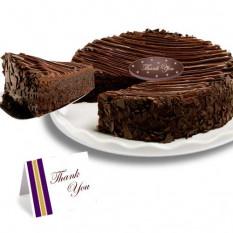 """Triple chocolate revestidos Brownie """"Gracias"""" Cake"""