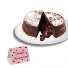 "Trufa de chocolate de lava Cakes ""aniversario"""