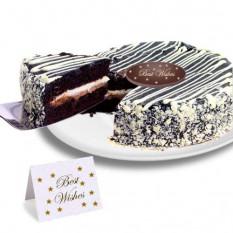 "Blanco y Negro Mousse Cake ""mejores deseos"""