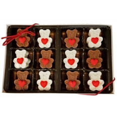Sweet Heart Mini Chocolate Bears, caja de regalo de 12