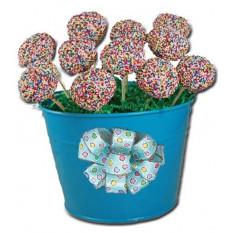 Cake pops - Espolvorear diseño, regalo balde de 12