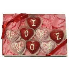 Las trufas pastel - en forma de corazón, Caja de regalo de 8