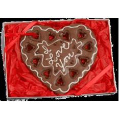 Gigante de la galleta del corazón caja de regalo, personalizada