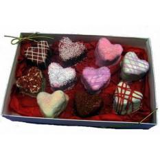 Corazón Brownie Bites Caja de regalo, amor