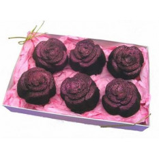 Rose Brownie en forma de caja de regalo de 6