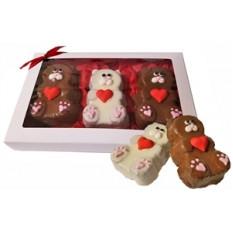 Sweet Heart Mini Bear Cakes, caja de regalo de 3