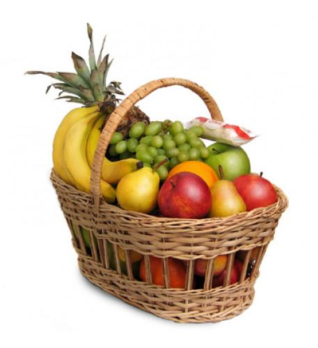 Grandes cesta de frutas