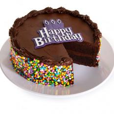 Pastel de chocolate feliz cumpleaños (6 pulgadas por porción)