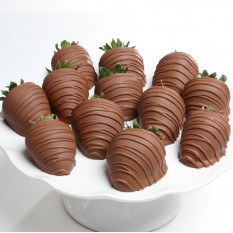 Milk Chocolate Covered Strawberries (6 Strawberries )