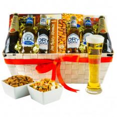 Elección de los cerveceros - cesto de regalos gourmet